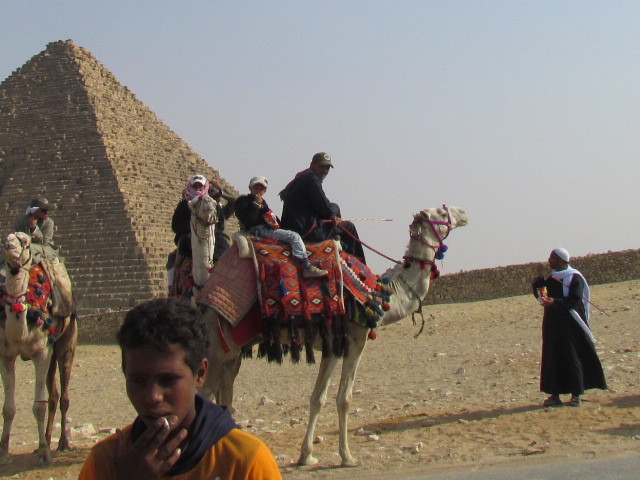 Authentic scene at the pyramids