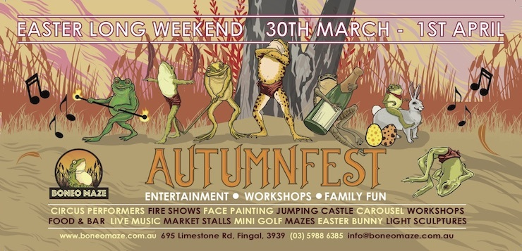 Autumn fest at boneo maze melbourne boneo maze is celebrating all the wonderful seasonal changes of autumn with a fabulous three day festival this easter long weekend march 30 to april 1 negle Gallery