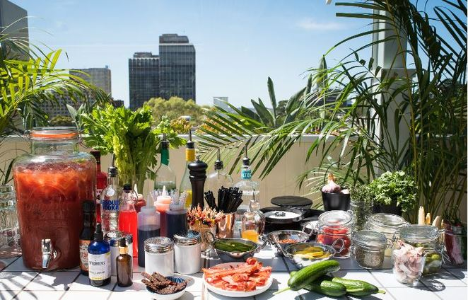 bloody mary, east village sydney, rooftop bars sydney, brunch buffets sydney, bottomless brunch