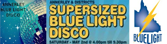 blue light disco, supersized, kid friendly, annerley, bands, music, sausage sizzle, face painting