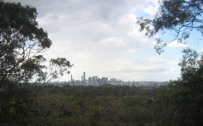 View of Brisbane from the Botanic Gardens