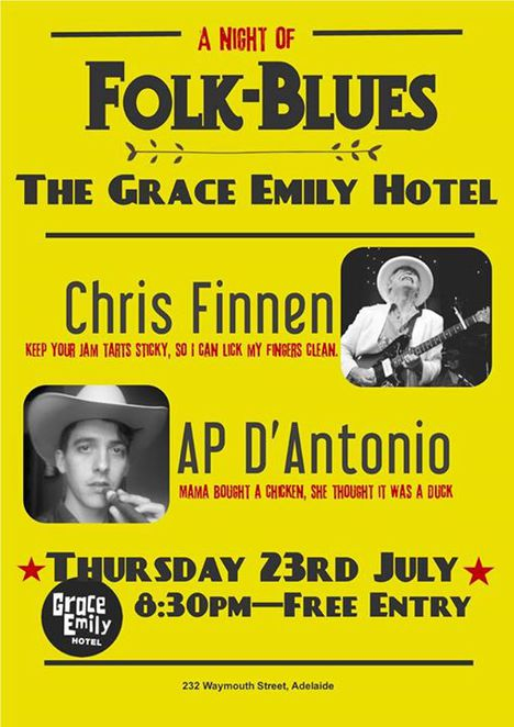 Chris Finnen and AP D'Antonio Folk Blues Reunion at The Grace Emily