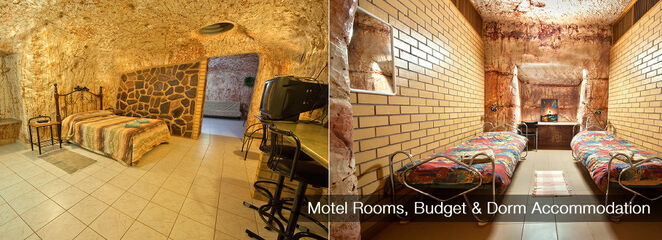 Coober Pedy, Radeka, dormitory dugout, backpackers dugout, underground accommodation, hotels South Australia, outback luxury, opal mining, dugouts