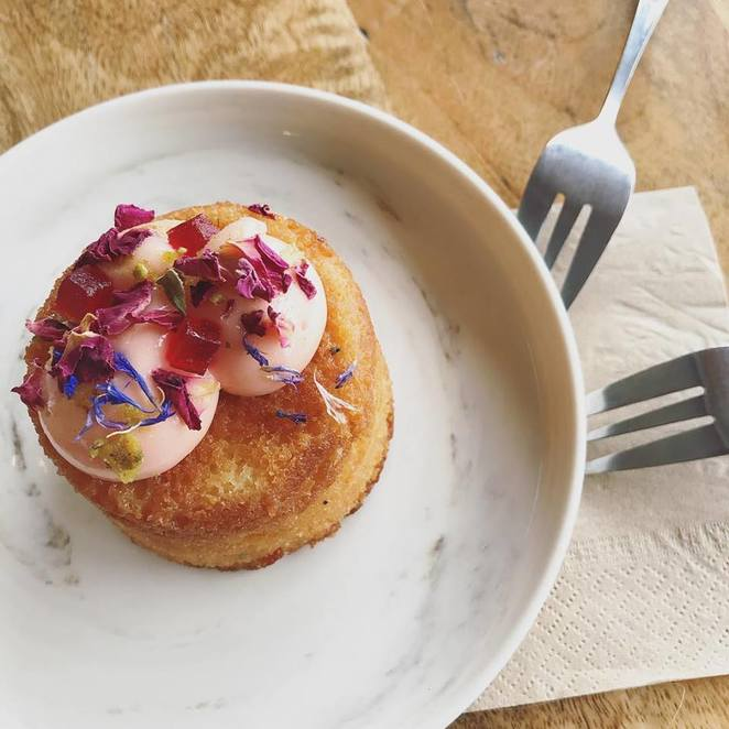 cup & cook, kyle bay, cafe, rose, lychee, cake