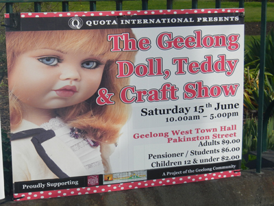 Geelong Doll, Teddy & Craft Show 2013