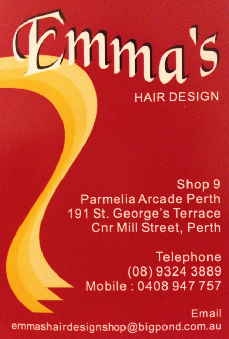 Emma 39 s hair design perth for 191 st georges terrace perth