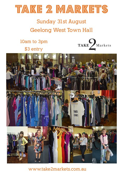 Geelong Take 2 Markets, Take 2 Markets, Rina Chia, Geelong West Town Hall, Geelong markets, fashion markets, vintage, designer labels