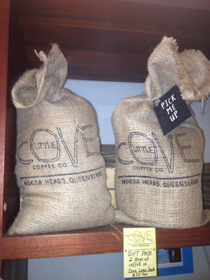 Quirky bagged coffee beans