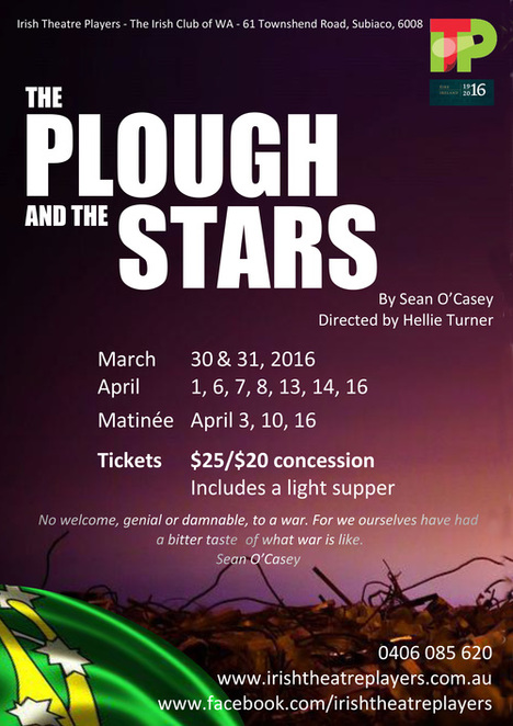 Irish Theatre Players Plough and the Stars Poster