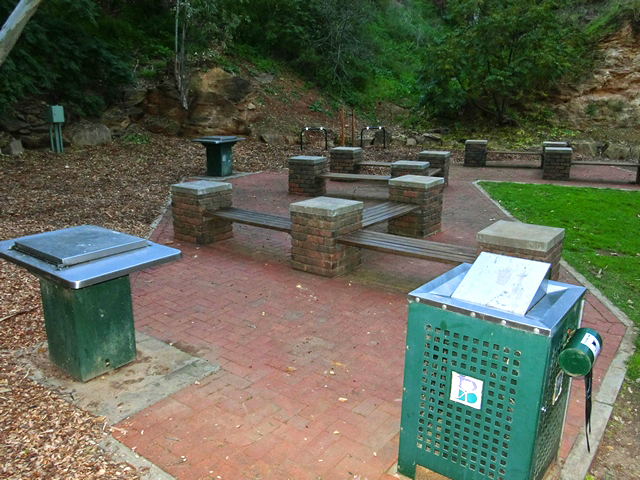 Langman Reserve Adelaide South Australia Burnside Waterfall Gully Park Reserve Seating Barbecue