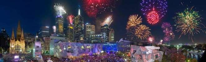 new year eve fireworks fed square melbourne