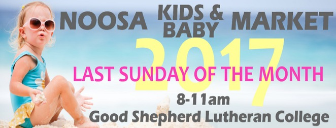 Noosa Kids and Baby Market, pre-loved and new clothing, babies, toddlers, every month, last Sunday of the month, superheroes, bouncy castle, face painting, free car seat checks, on-site cash out facility, giveaways, competitions, declutter, The Good Shepherd Lutheran College, Noosaville, declutter, wardrobe makeover, browsing