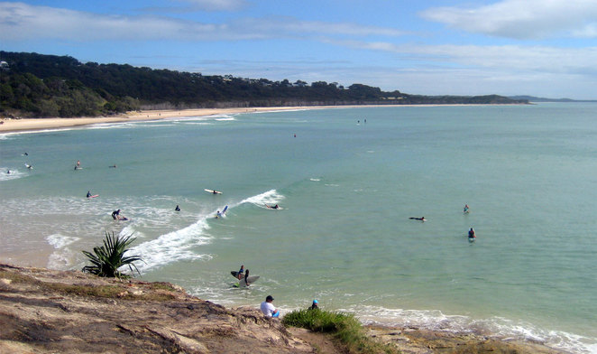 Cylinder Beach combines a great surf break and sheltered beach