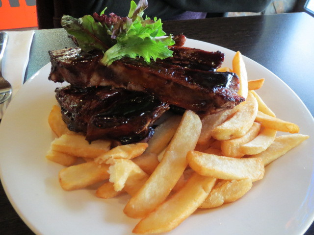 Outback Jacks Bar and Grill, Slow Cooked Bourbon Pork Ribs, Adelaide
