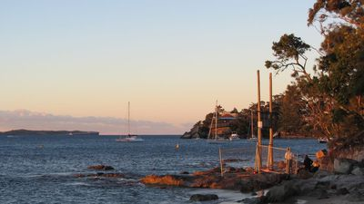 Bundeena Bay in the setting sun - Photo by author