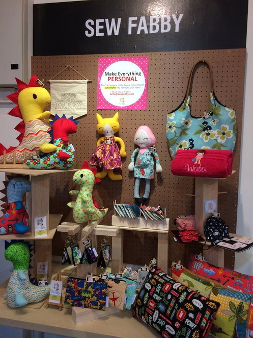 sewfabby, handmade, local, dolls, dinosaurs, cats, bags, towels, embroidery