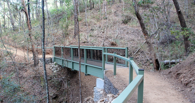 The trail has been well constructed with steps and bridges to overcome obstacles