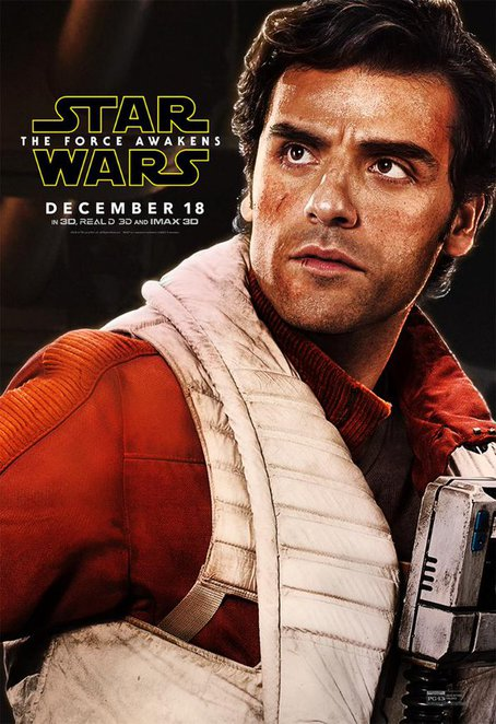 Star Wars The Force Awakens - Poe Dameron played by Oscar Issac