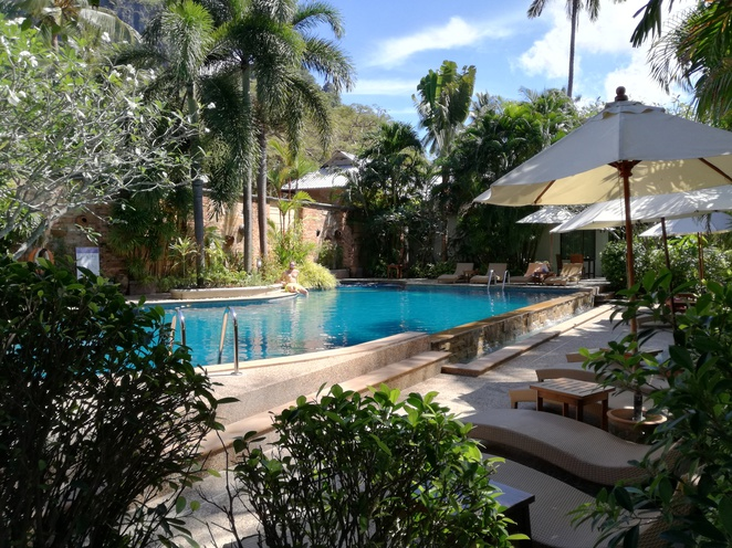 swimming pool railay village resort krabi thailand