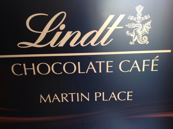 The Lindt Cafe Marin Place Chocolate lunch coffee afternoon tea