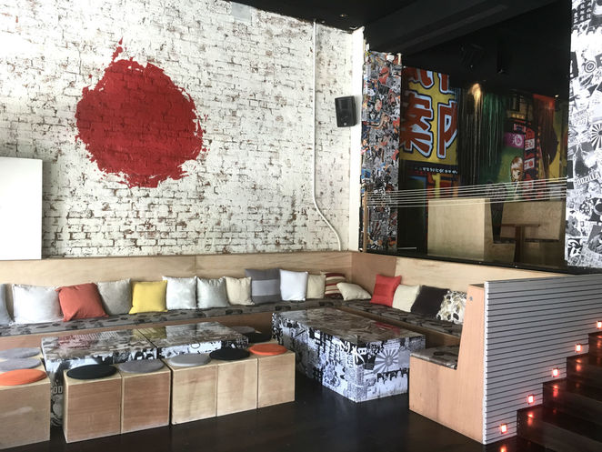 tokosan, toko, bar, japanese restaurant, eatery, fun things to do, nightlife, tapas, graffiti walls, karaoke bar, tokyo style, asian cuisine, japanese cuisine, japanese menu, street art mural, dj spun tunes, pub style, all you can eat temaki tuesdays, family fun