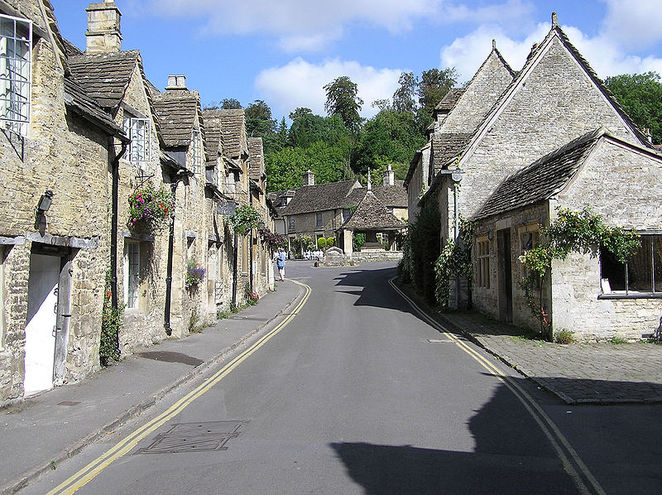village, castle combe, wiltshire