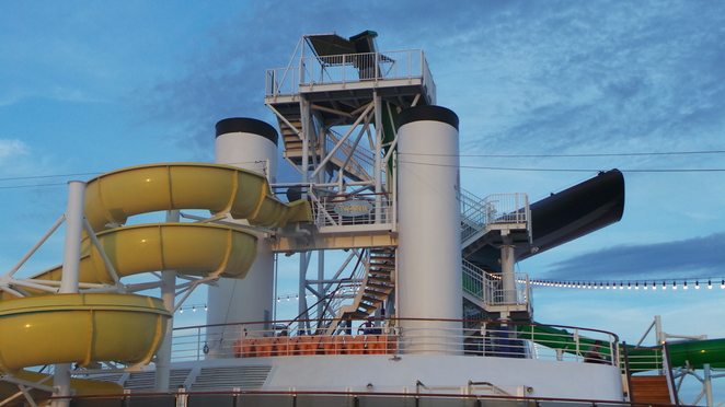 water slides on Carnival Spirit