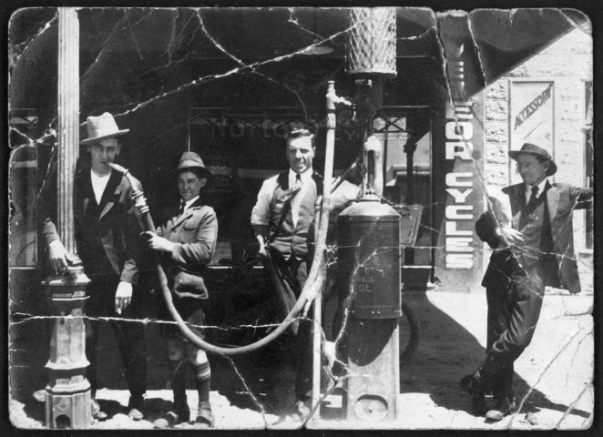 adelaide firsts, first in adelaide, first in australia, state library sa, south australia, in adelaide, in australia, petrol pump, grote street