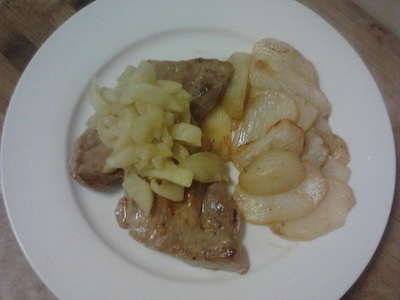 Pork Fillets with Chunky Apple Sauce