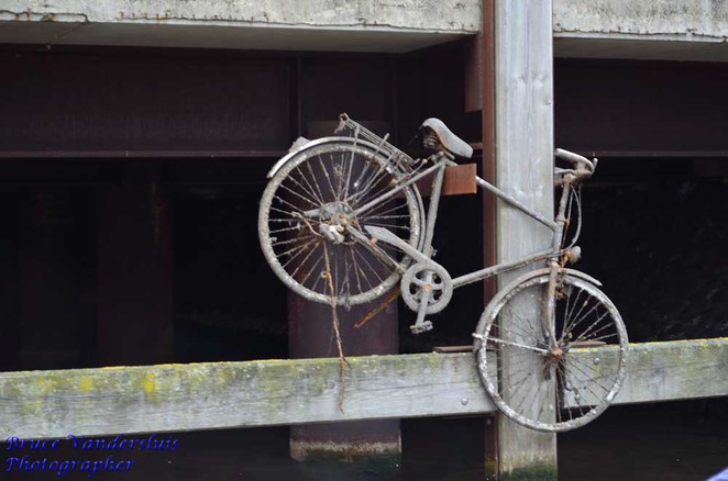 bicycle, bike, pier, canal, amsterdam, netherlands
