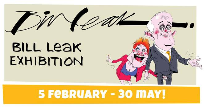 bill leak exhibition 2021, community event, fun things to do, art gallery, art exhibition, national cartoon gallery, coffs harbour, art exhibition opening night, the rotary cartoon awards, activity, artists, paintings