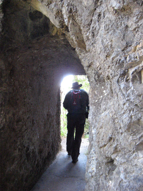 The path goes through caves