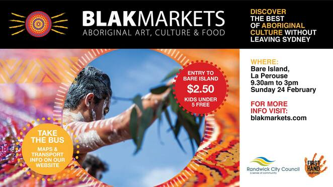 blak markets 2019, community event, fun things to do, cultural event, market stalls, aboriginal products, entertainment, fundraiser, bare island, la perouse, kamay botany bay national park, unique aboriginal gifts, artworks, bauty products, homewares, jewellery, indigenous food, refreshments, dance performances, madi lyn, singer, counry music, kids activities, larry brandy storytellers, shellworkers, aunty esme timbery, marily russell, shell workshop