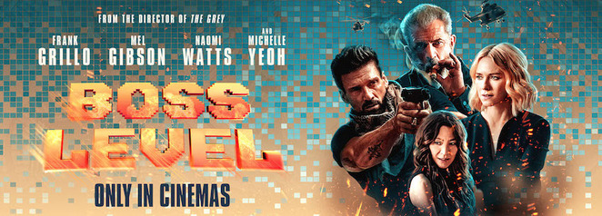 boss level film review, community event, fun things to do, date night, cinema, night life, actors, performing arts, movie review,entertainment, chris borey, joe carnahan, frank grillo, mel gibson, naomi watts
