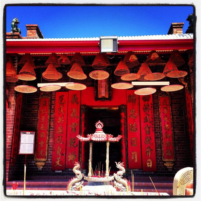 chinese, temple, sze, yup, glebe, sydney, exotic, cultural, spiritual, red, building