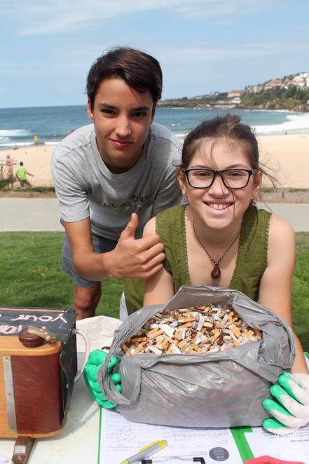 cigarette butts, beach, pollution, seaside scavenge
