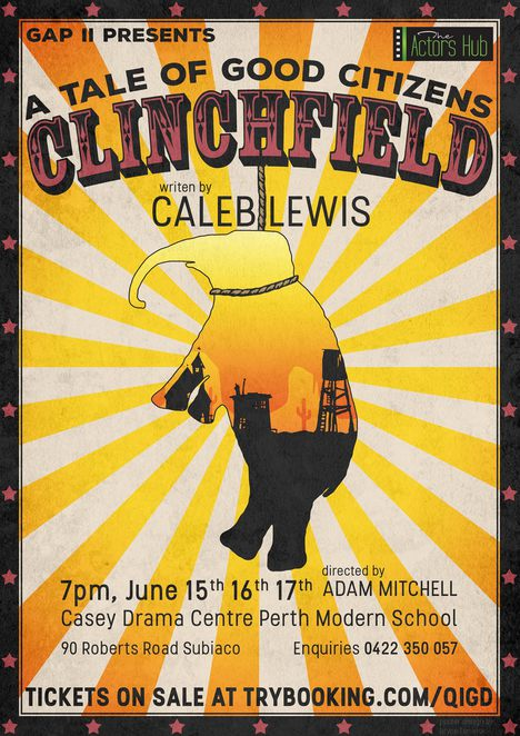 Clinchfield, play, theatre, performing arts, The Actors' Hub, Casey Drama Centre, Adam Mitchell, elephant, Murderous Mary