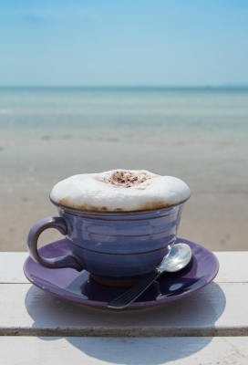coffee,cup,blue,sea,view