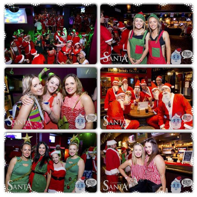 damsel and sprout, santa christmas pub crawl canberra, 2015, nightlife, christmas, pubs, bars, nightclubs,