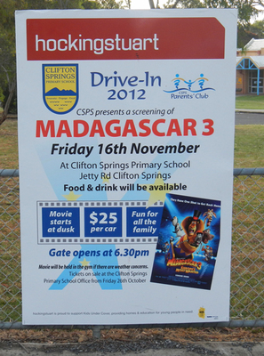 Clifton Springs PS Parents' Club Drive-In 2012