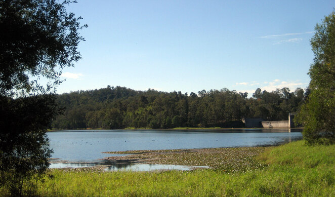 Enoggera Reservoir is not only a great place to hike, but you can go for a swim afterwards