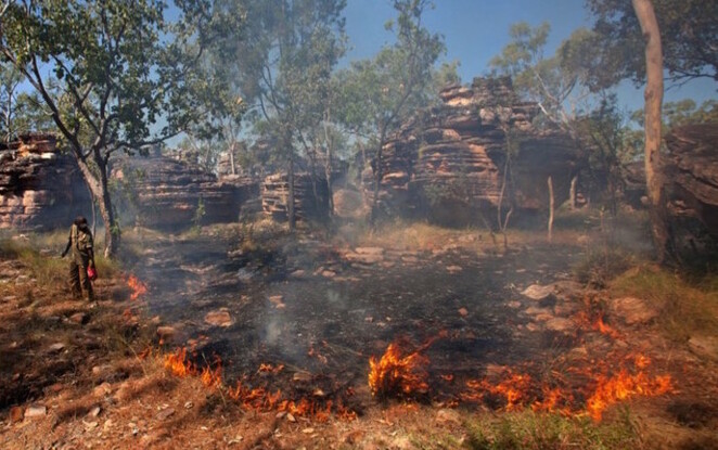 Flames of Opportunity, Hugh Williamson Lecture, Science Gallery, Melbourne, Indigenous knowledge, cultural practices, fire burning, cultural burning, climate change, First Peoples, Michael-Shawn Fletcher, Rae Johnston
