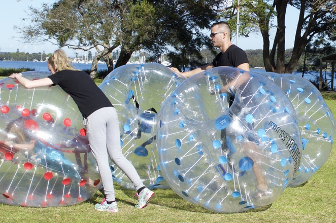Free Bumper Ball session at our local park