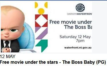 free, free movie, ourdoor movie, Movie Under the Stars at the Waterfront, Waterfront Darwin, Darwin, family friendly