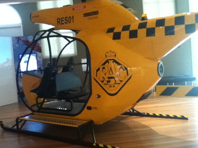helicopter, rescue, rescue helicopter, exhibits for kids, Ipswich art gallery