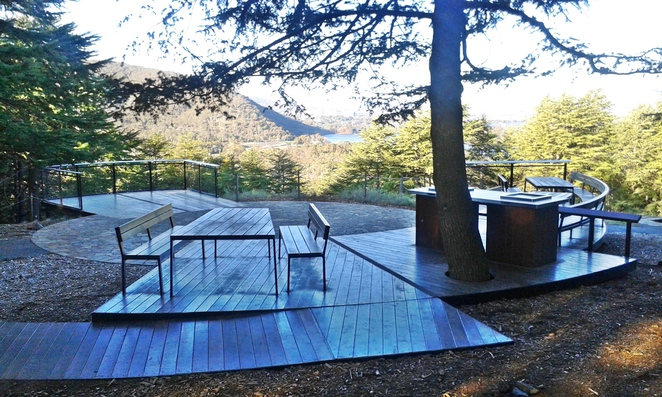 himalayan cedar forest BBQ area, national arboretum, canberra, ACT, BBQ's, picnic areas, families, pod playground,
