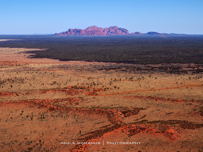 Kata Tjuta from helicopter
