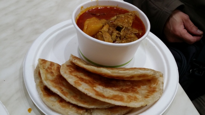 Kopi & Kitchen, Roti with Chicken Curry, Adelaide