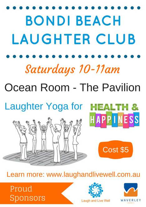 Laugh and Live Well poster Bondi
