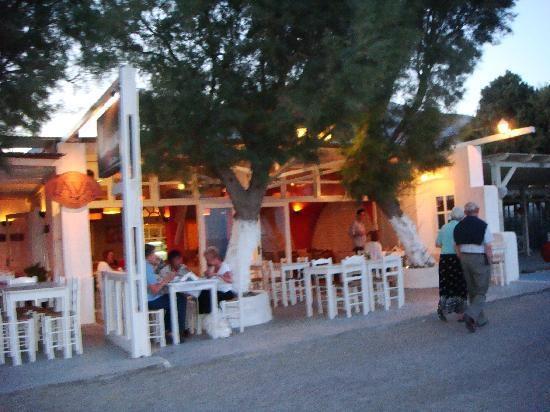 Lava best restaurants Perissa Beach Santorini